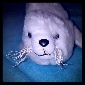 White Harp Seal Backpack Purse
